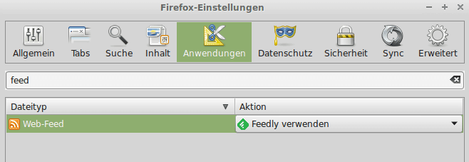 Feedly in FireFox integrieren ohne Add-on