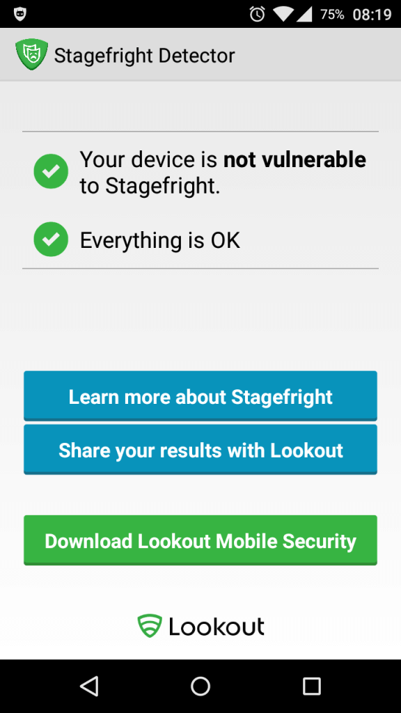 Stagefright Detector (Lookout)